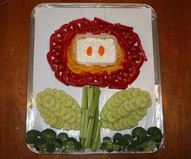 Fire Flower Veggie Tray