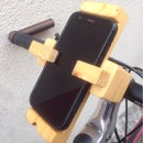 Wooden phone support for bike