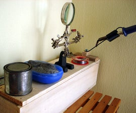 Soldering Station With Storage Compartment