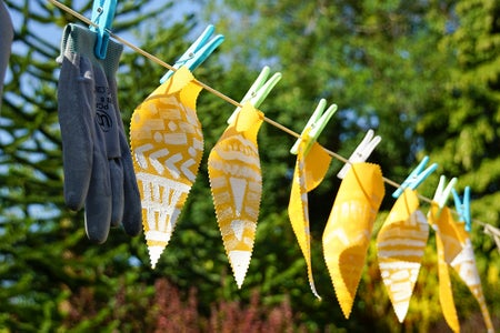 Make Your Own Oil Cloth   DIY Waterproof Outdoor Bunting