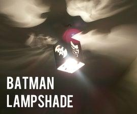 Batman Cardboard Lampshade