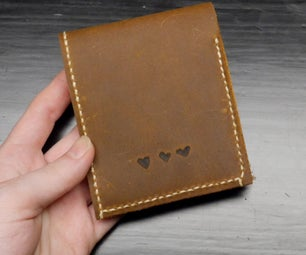 Leather Wallet With Etched Detail