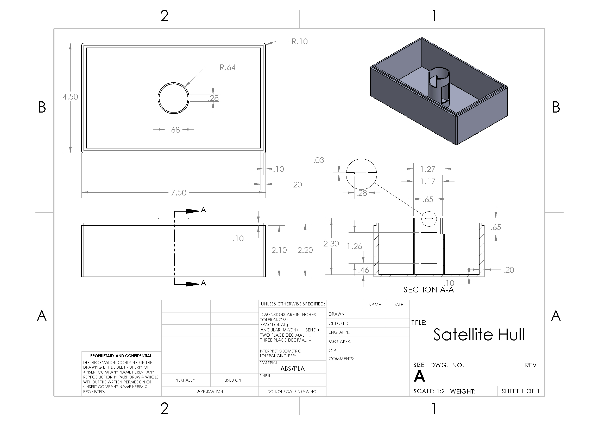 Picture of Schematics and Dimensions - Hull