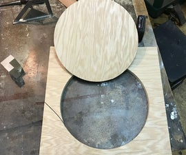 The easiest and cheapest Band Saw Circle Jig!