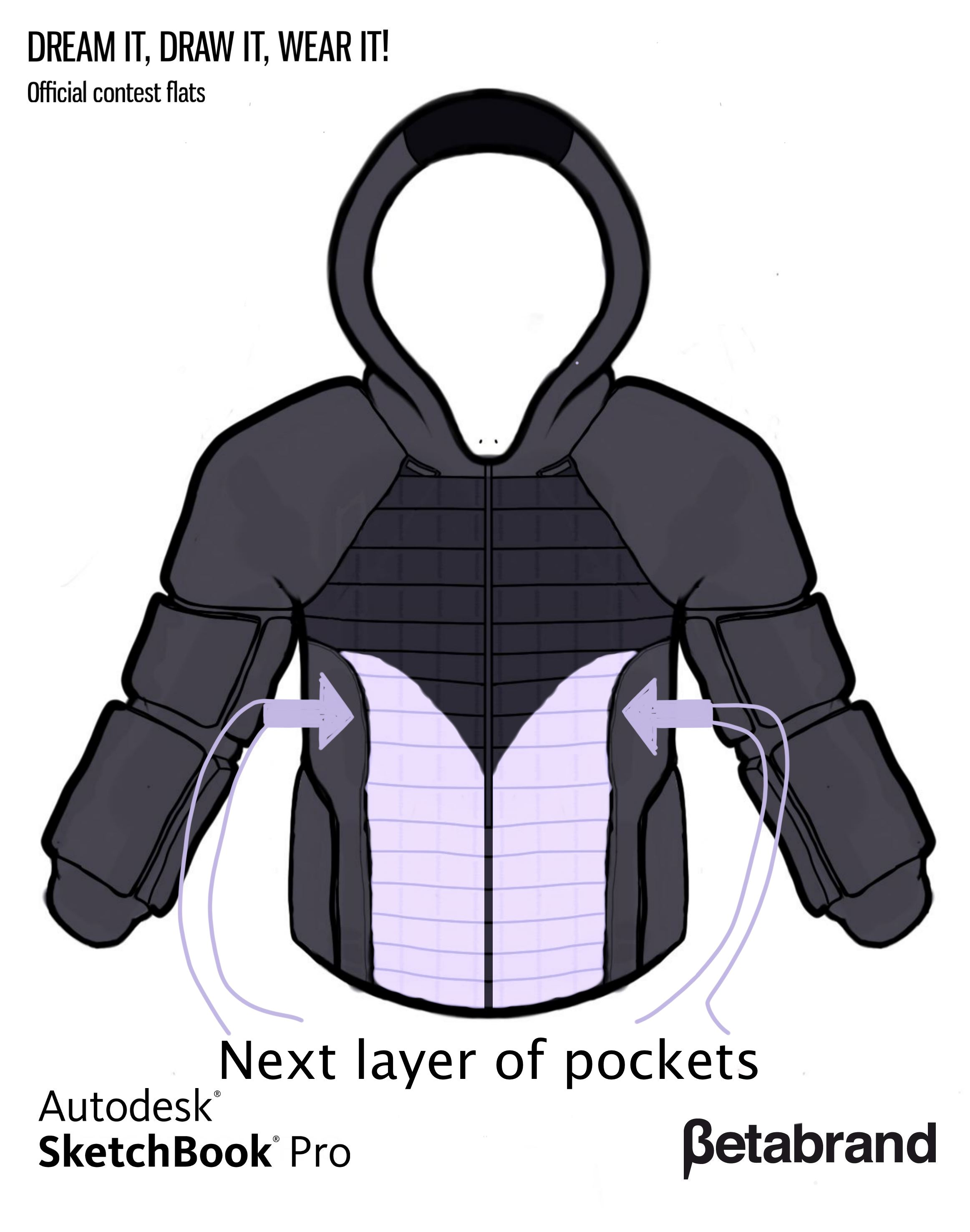 Picture of Detailed Description of Hoodie [Middle Front Pocket]