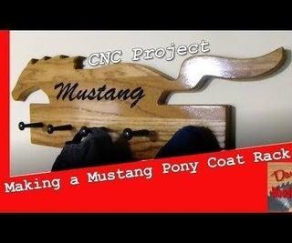 Mustang Pony Coat Rack