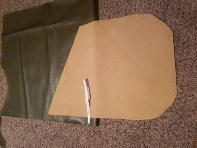 Cutting the Outward Face Closing Flap ( Reference Layer/Vinyl Layer )