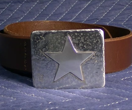 """How to make a Belt Buckle for """"Go Texan Day"""""""
