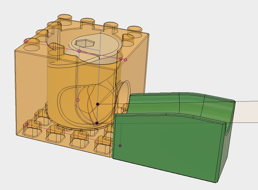Picture of Merging of the Marble Pump With the Brick Design