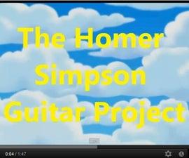 Making of Homer Simpson Guitar