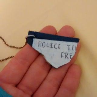 TARDIS Fragment Necklace