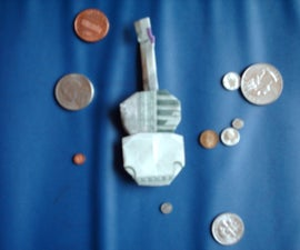 Origami dollar guitar