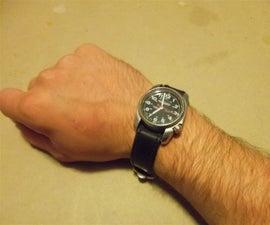 Upcycled Innertube Watchband