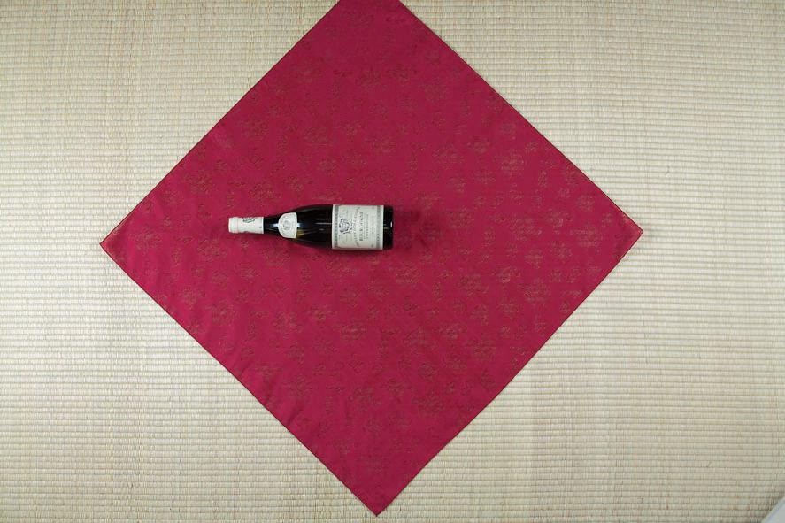 Picture of  Lay the Bottle Onto the Bojagi As Shown in  the Picture.