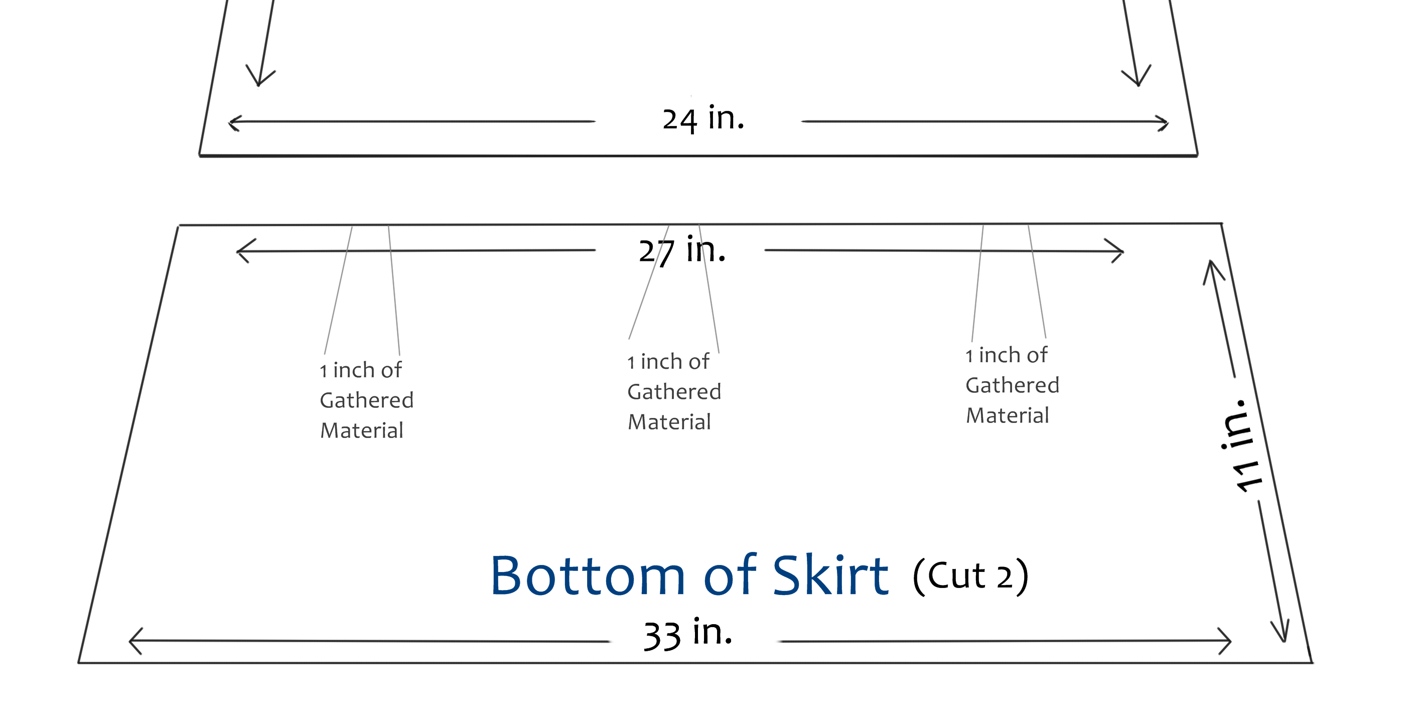Picture of Sewing Bottom of Maxi Skirt to Top