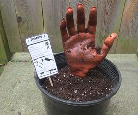 Zombie in a Pot- a Fun Prop/Decoration