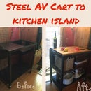 Obsolete Overhead Projector/AV Cart to Kitchen Island Storage