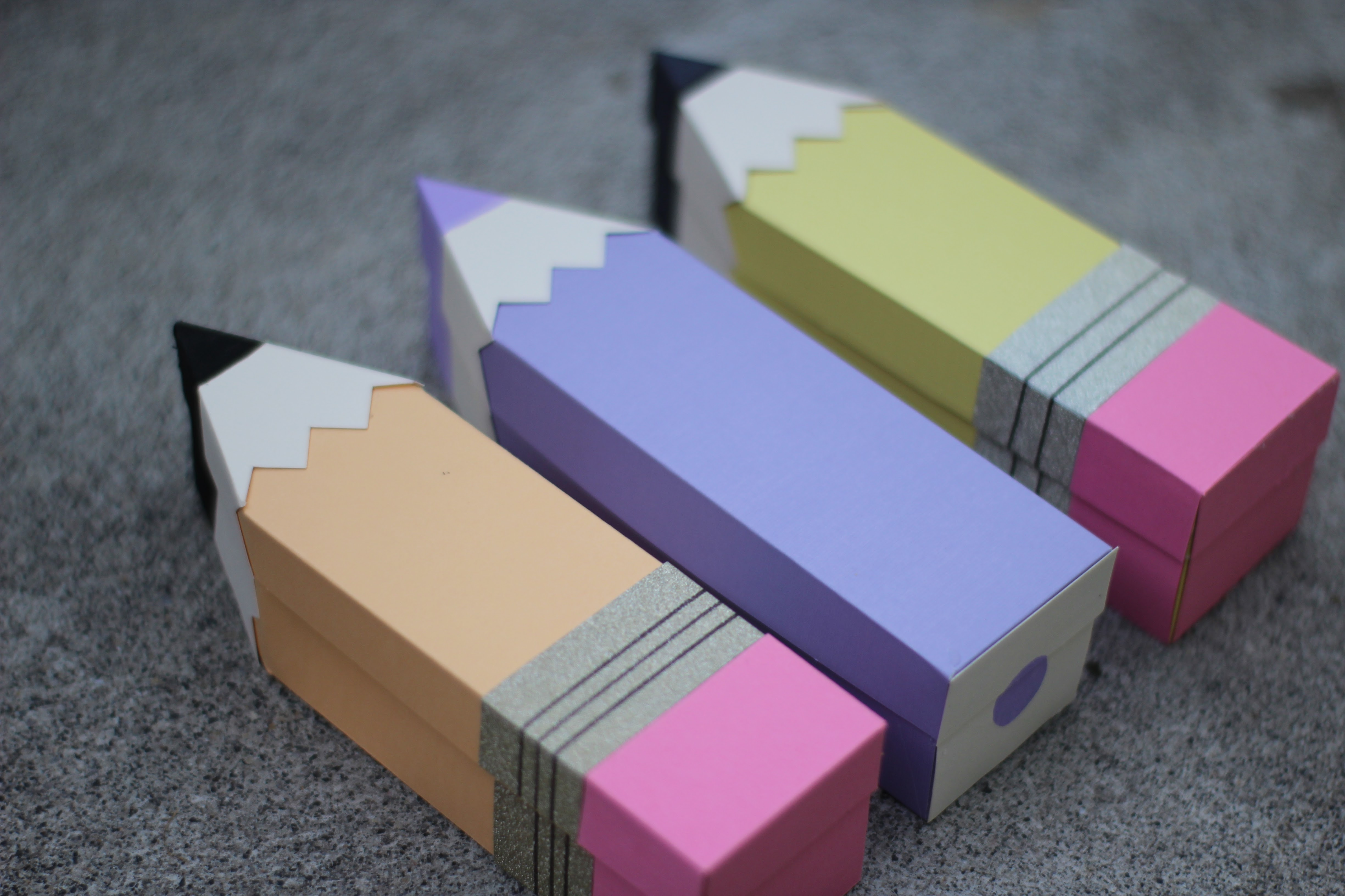 Picture of 3D Paper Pencil Treat Box
