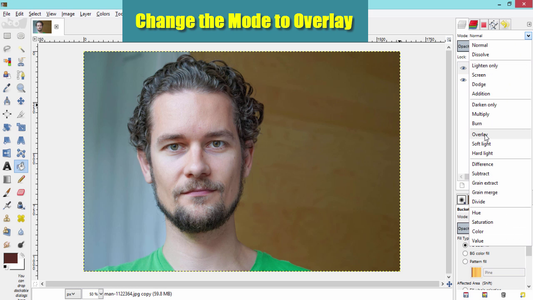 Make Its Mode to Overlay
