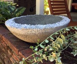 Metallic Dipped Concrete Planter