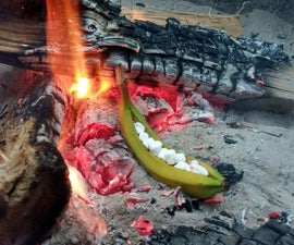 Campfire Roasted Stuffed Banana
