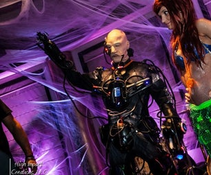 Locutus of Borg Costume (Cyborg) With Real Robotics, Lights, and Sound and 36,000 MAh of Power!!