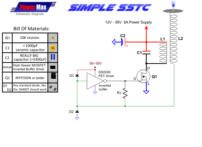 building the poor mans mini tesla coil slayer exciter steps solid state tesla coil slayer exciter png