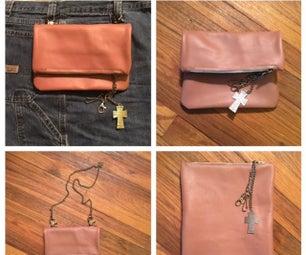 All in One Leather Make-Up Bag, Shoulder Bag and Belt Loop Purse