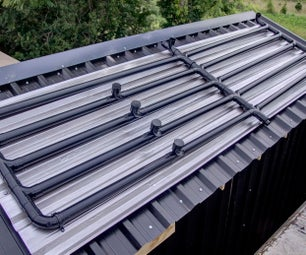 Automated Solar Hot Water Power Shower using Black Plastic Pipes