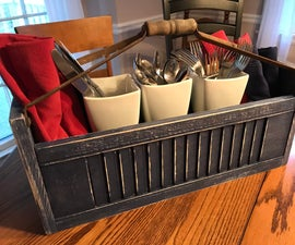 Up Cycling Shutters Into a Tote With Hand Tools