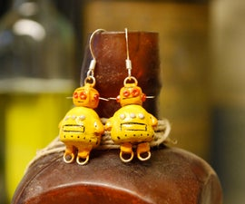 Geek Earrings: Instructables Robot, Totoro, Gir, Triforce, and Wiimotes!