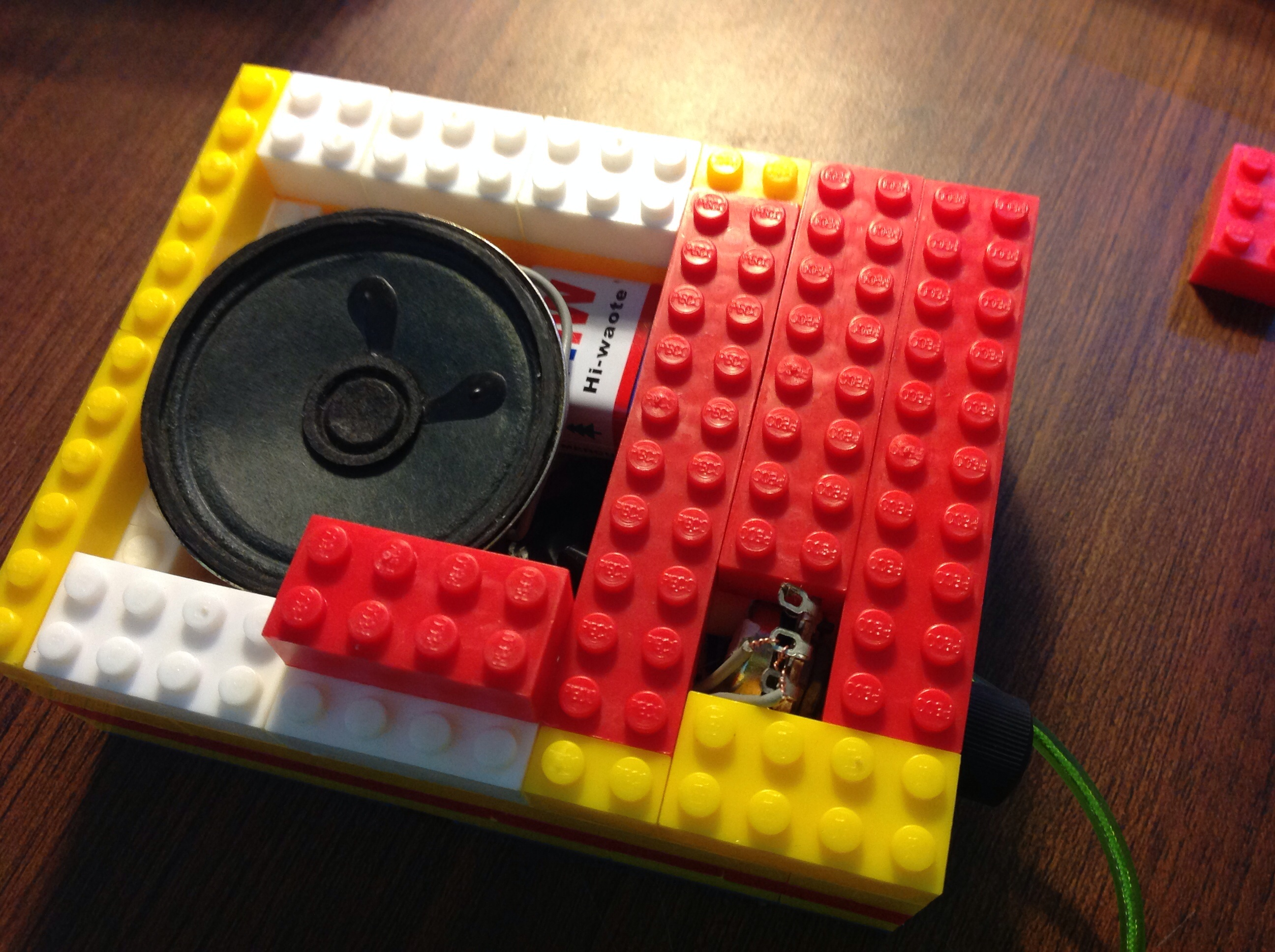 Picture of Putting the LEGO and Circuit Together...