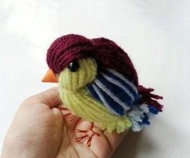 DIY Cute Yarn Bird