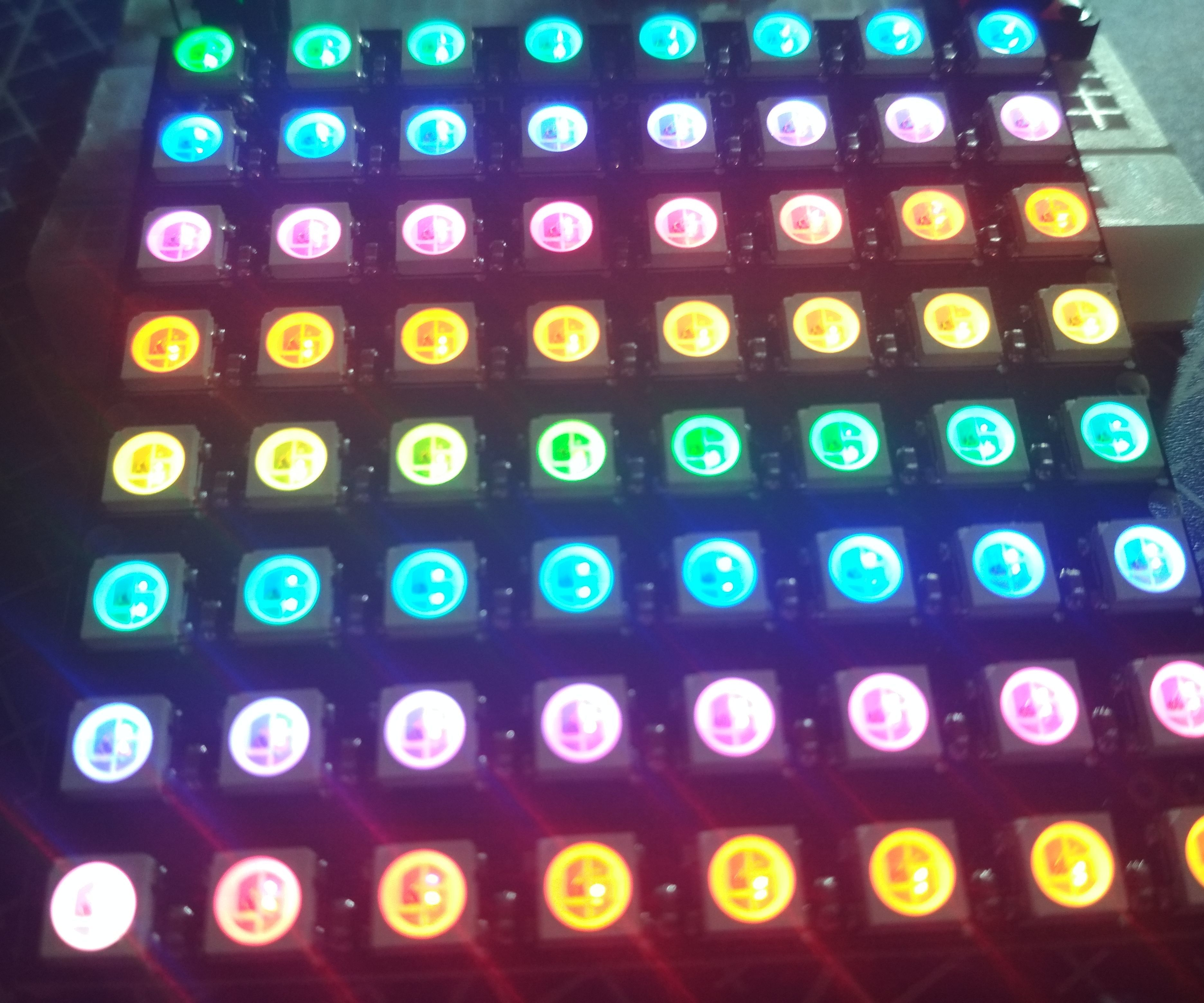 Table Gadget With 8x8 Led Rgb Matrix And Arduino Uno  6 Steps