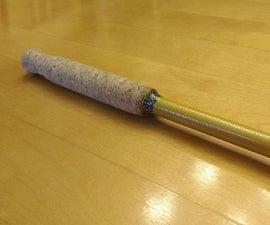 Wine Cork Fishing Rod Grip Made On A Metalworking Lathe