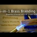 5-in-1 Wood Branding Iron in Brass