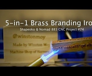 5-in-1 Wood Branding Iron in Brass