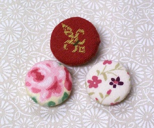 Sew Useful Fabric Covered Buttons (NO KITS)!!!