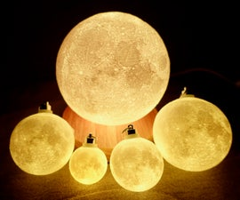Progressive Detail Moon Lamp