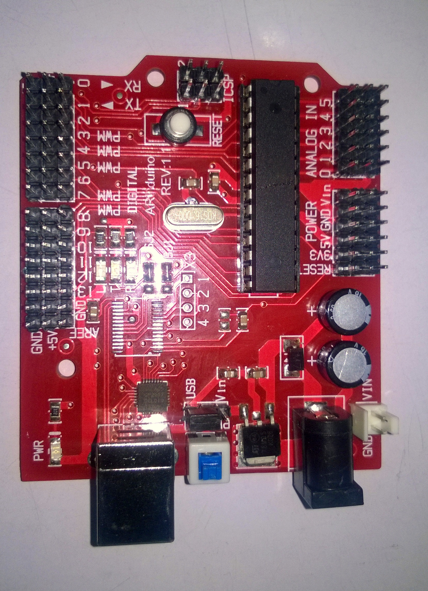 Picture of Arduino Circuit Board Specification
