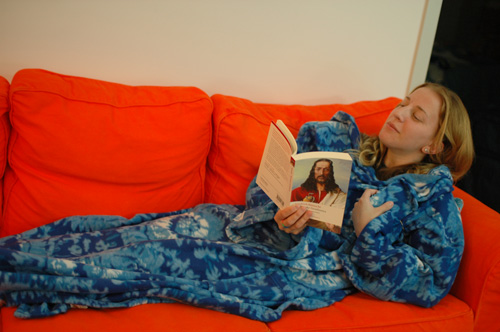 Picture of The Smuggie: Tweet Straight From Your Snuggie