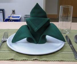How to fold a cloth napkin- crown fold