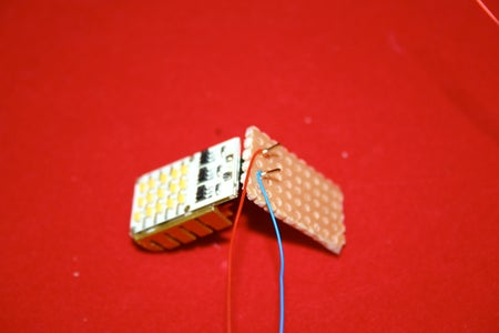 Attach Wire Wrap Wires to LED Light