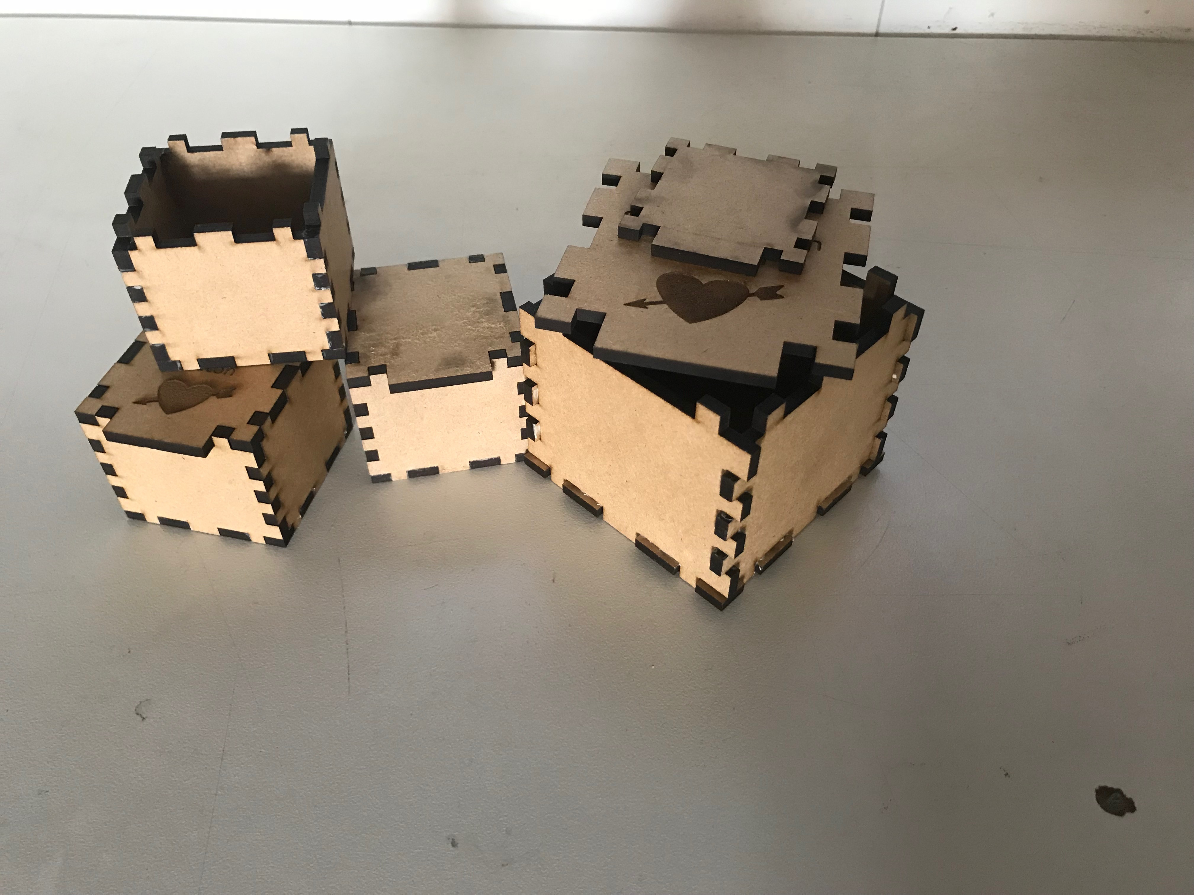 Picture of Laser Cut Ring or Wristband Box's for Valentine's Day