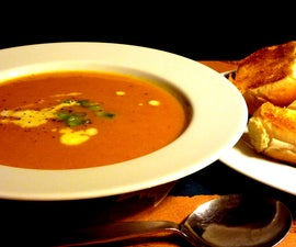 Curried pumpkin and bacon soup