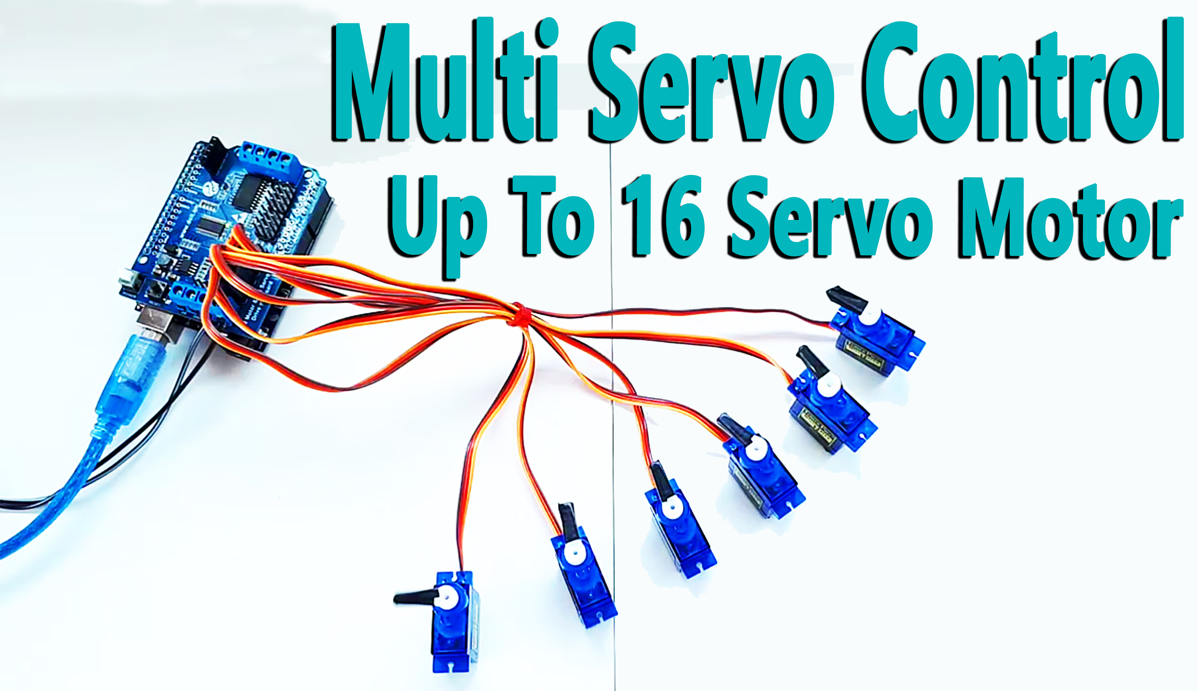 Picture of Arduino - Multi Servo Control Up to 16 With Arduino