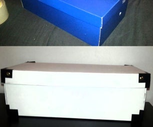 Shoebox Makeover to Sticky Tape Storage
