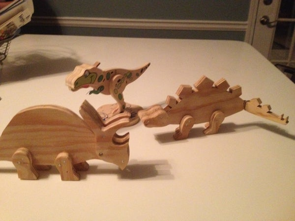 Wooden Toy Dinosaurs