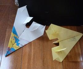 Killer (haha) paper airplane