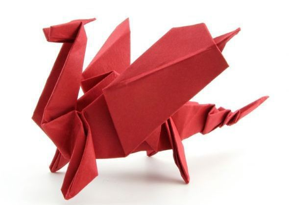 Make an Origami Dragon | Easy origami dragon, Origami for ... | 418x590